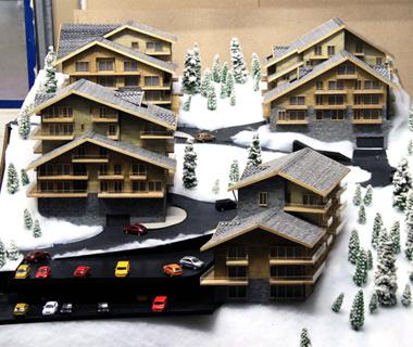 Maquette des maisons et villas