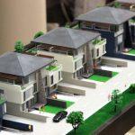 Maquette d'un complexe résidentiel