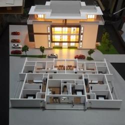 Maquette architecturale du bâtiment résidentiel
