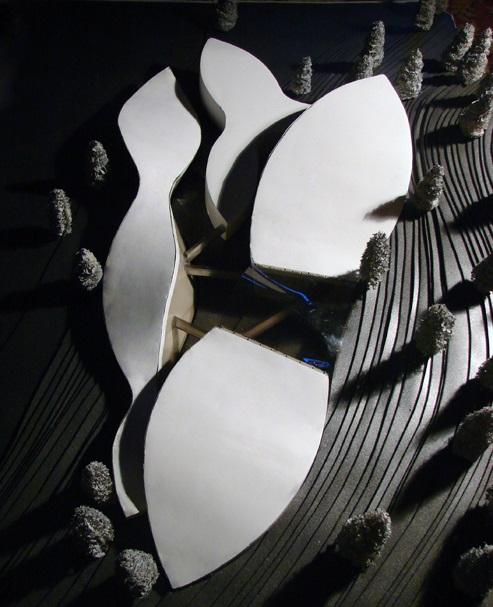 Maquette architecturale conceptuelle