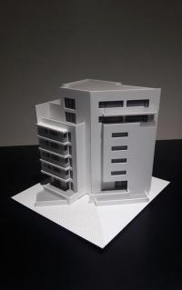 Maquette architecturale d'immeuble des bureaux