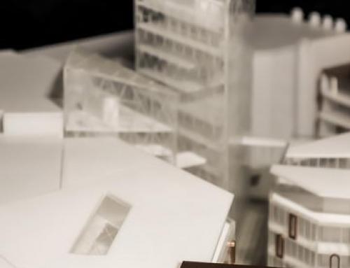 Maquette architecturale de Les Galeries de Blanduzia et du bâtiment des offices