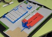 Maquette architecturale de centrale électrique