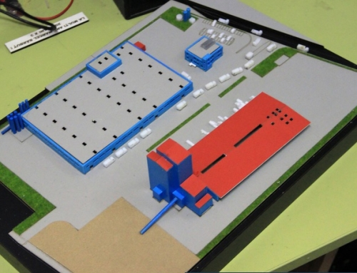 Maquette architecturale de centrale électrique «Adeplast»