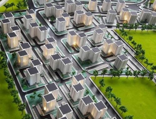 Maquette architecturale de la zone de logement urbain