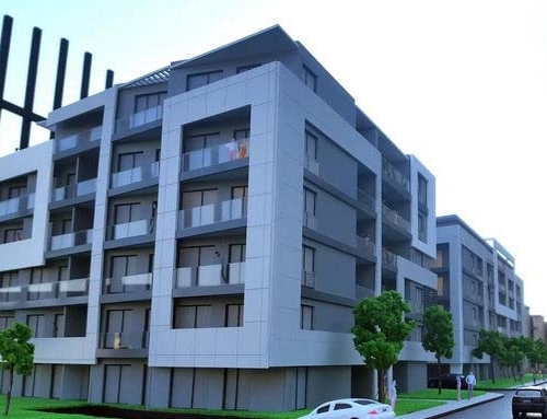 Maquette architecturale de logement réaliste