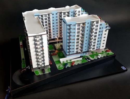 Maquette architecturale de résidence immobilière ISG