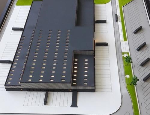Maquette architecturale des modèles d'usine industrielle