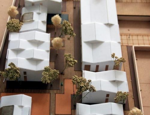 Maquette assemblage de logements – Concept volumétrique d'une zone résidentielle