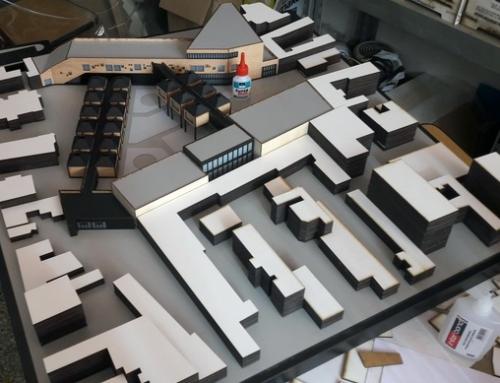 Maquette conceptuelle de architecture de l'école