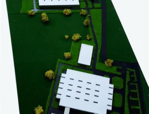 Maquette d'échelle industrielle d'usine et d'entrepôt BOSCH