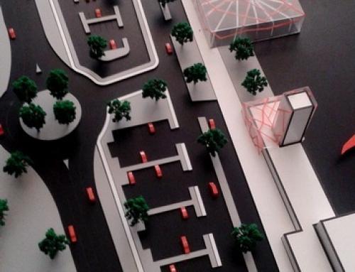 Maquette d'architecture conceptuelle d'un aéroport