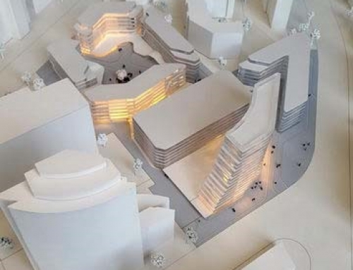 Maquettes architecturales de complexe des bureaux de l'Eschborn, Allemagne