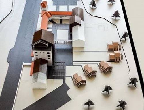 Modèle à l'échelle architecturale du Centre de traitement pour personnes âgées