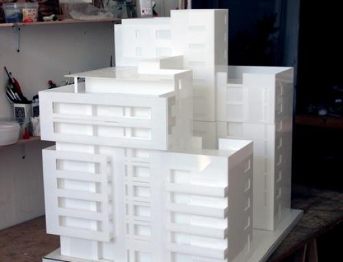 Modèle architectural de bloc de plexiglas Acrilyc