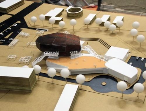 Modèle architectural du centre culturel Maquette architecture
