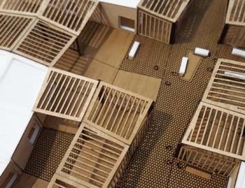 Modèle d'échelle architecturale des espaces modulaires