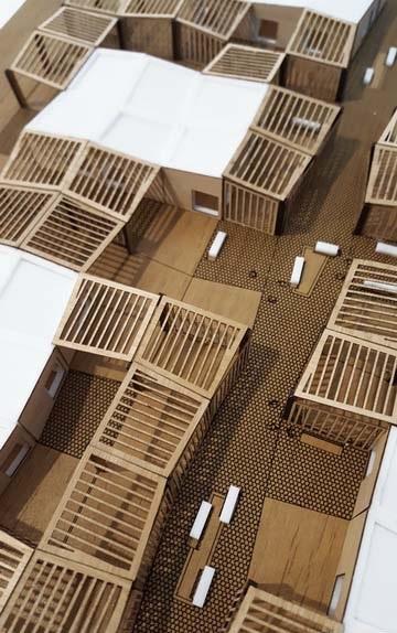 Modèle déchelle architectural modulaires