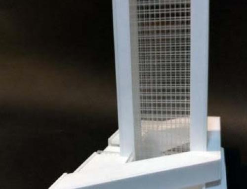 Modèle d'échelle architecturale d'hôtel de gratte-ciel