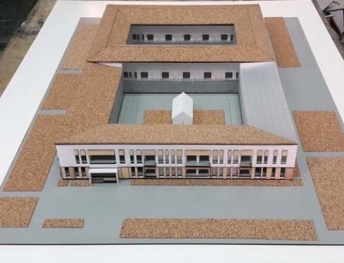 Modèle de liège d'échelle d'architecture de logement
