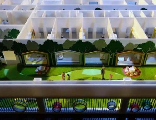 Plan détaillé d'un modèle architectural d'hôpital pédiatrique