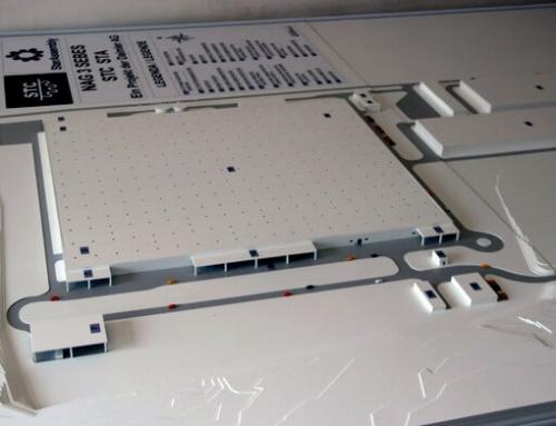 Usine Daimler STC STA – maquette architecturale
