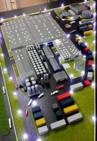 maquette architecturale usine