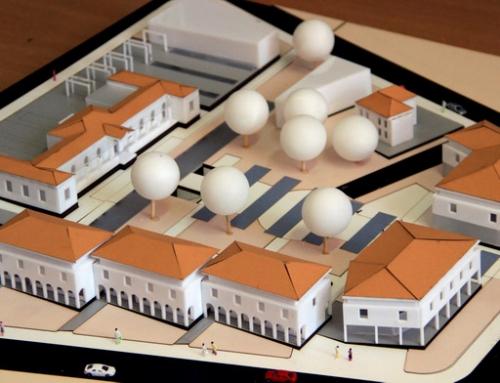 Échelle architecturale Modèle de logement avec zone de promenade