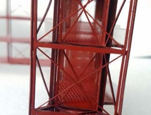 Maquette architecturale de la structure d'ingénierie pour mesurer la résistance du faisceau