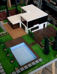 maquette architecturale de villa