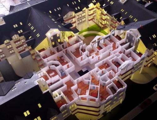 Maquette architecturales de logement immobilier