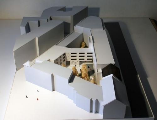 Modèle d'échelle architecturale du centre culturel