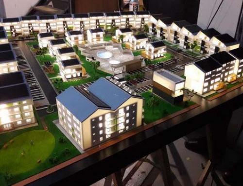 Modèle de maquette de logement d'énergie alternative